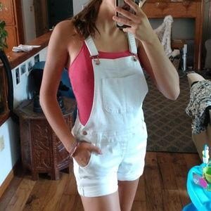 Darling white overalls!!!!